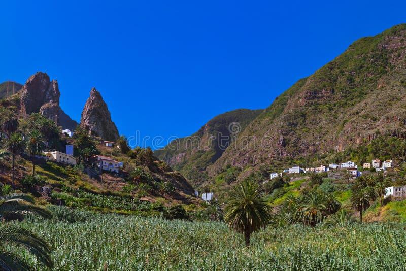 Hermigua valley in La Gomera island - Canary. Spain royalty free stock photos