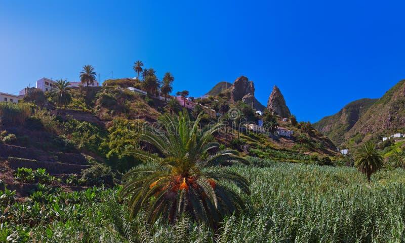 Hermigua valley in La Gomera island - Canary stock photography