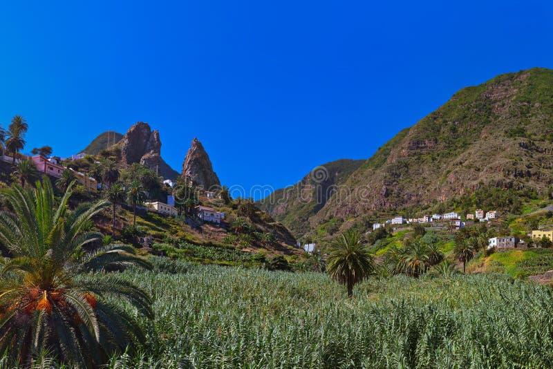 Hermigua valley in La Gomera island - Canary. Spain stock images