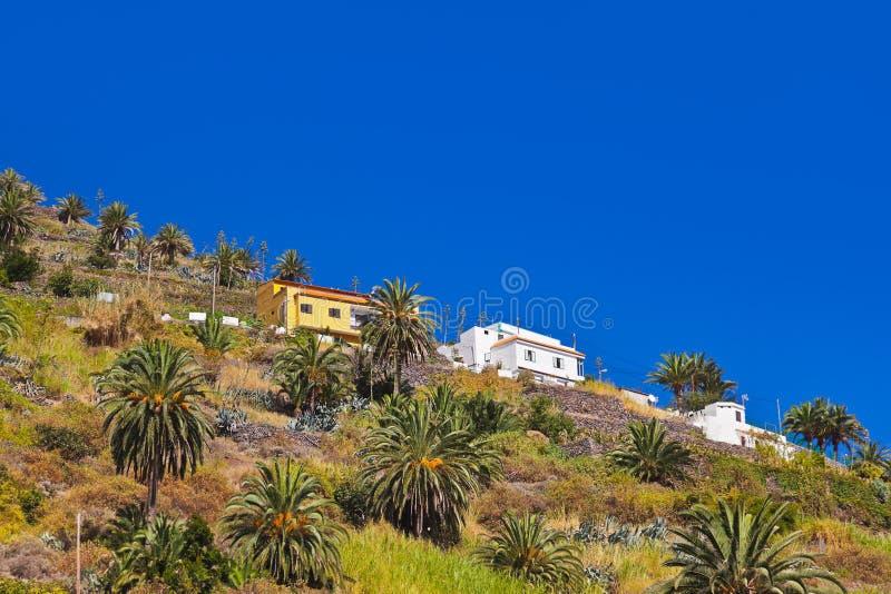 Hermigua valley in La Gomera island - Canary. Spain royalty free stock image