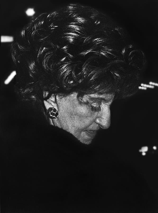 Hermione Gingold fotografia stock