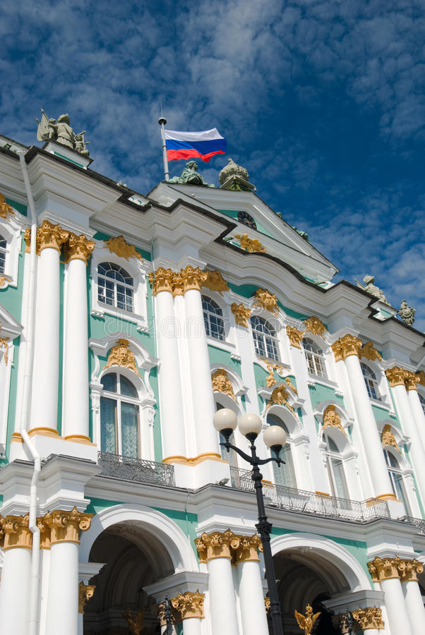 Hermitage. Famous landmark of Sankt Petersburg (Russia) - Winter Palace which houses Hermitage museum stock photography