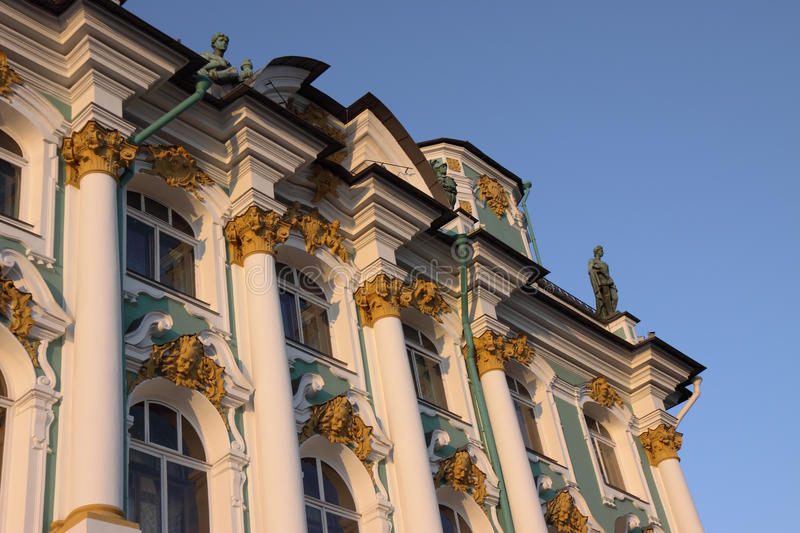 Hermitage. Winter palace (Hermitage) in a white night stock photo
