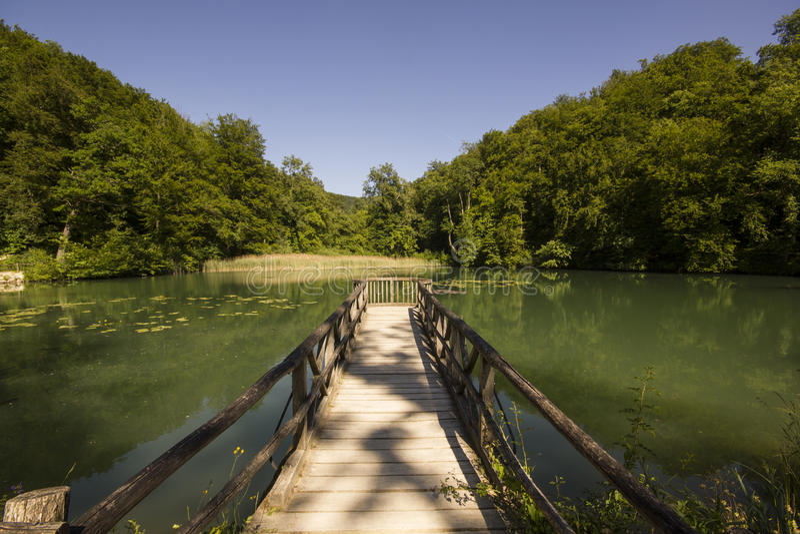 Hermitage in Arlesheim (Basel). Middel lake in the Hermitage of Arlesheim royalty free stock photo