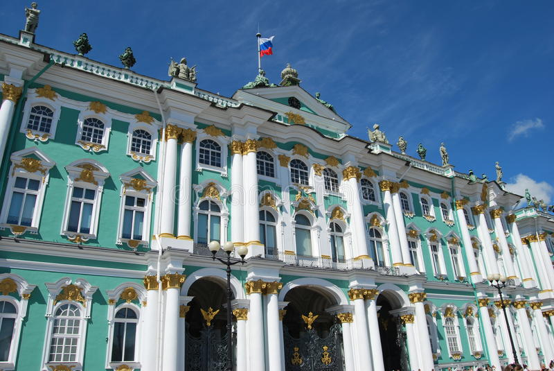 Hermitage - Famous Russian Landmark Stock Photos