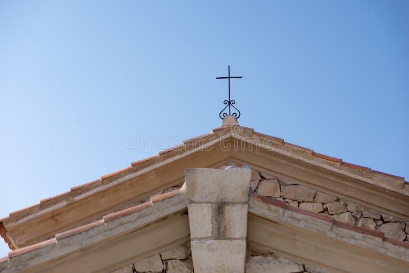 Hermitage Fayon. In Zaragoza province in Spain stock photo
