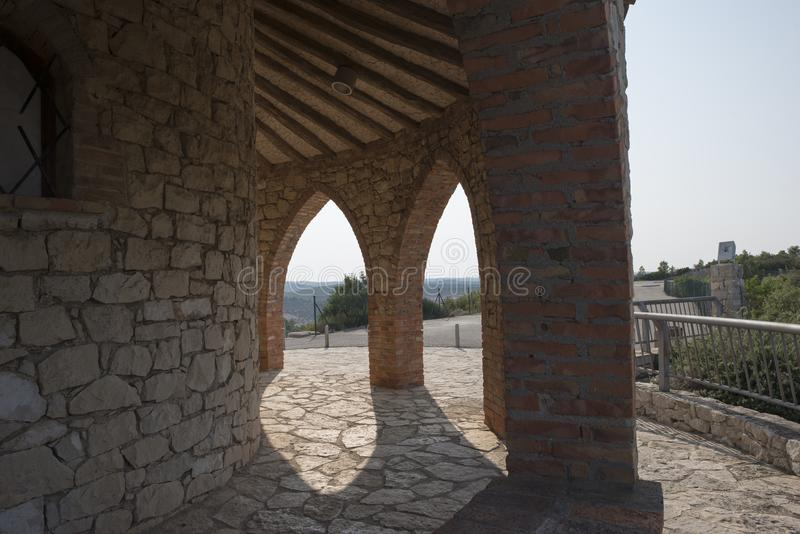 Hermitage Fayon. In Zaragoza province in Spain stock photography