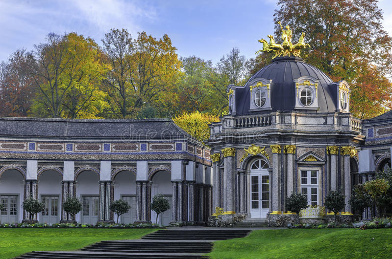 Hermitage. The Hermitage Museum / old castle - town of Bayreuth stock photos