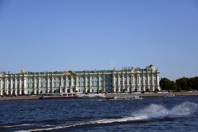 Hermitage museum Winter Palace in Saint-Petersburg, Russia. stock photography