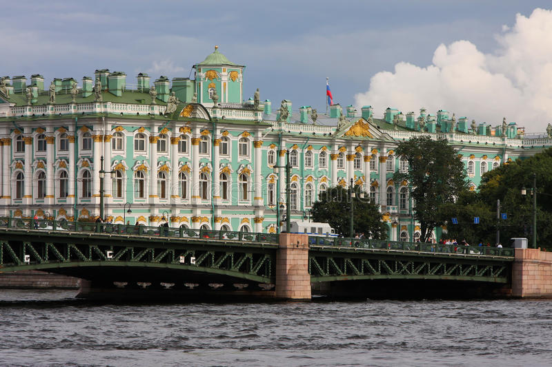 Download The Hermitage And Palace Bridge Stock Image - Image of river, saint: 26734941