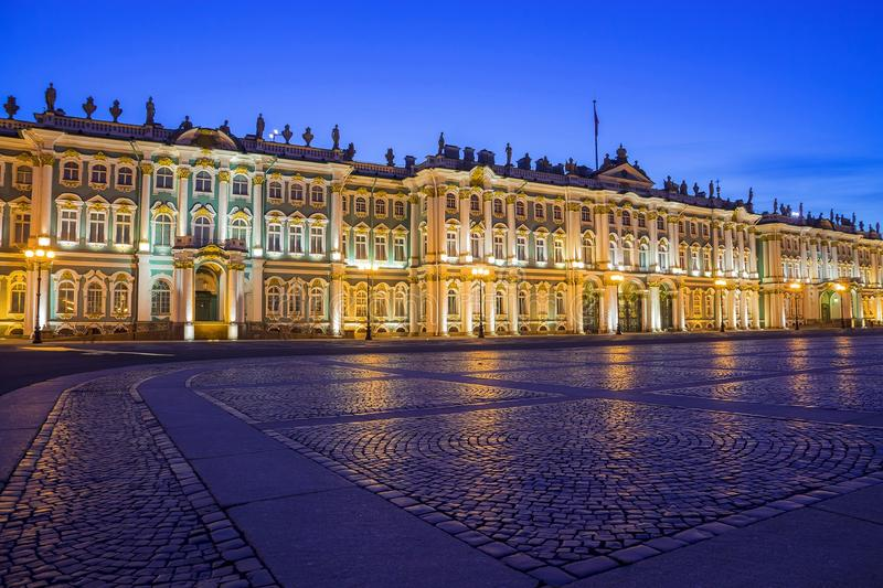 Hermitage on Palace Square, St. Petersburg royalty free stock photography