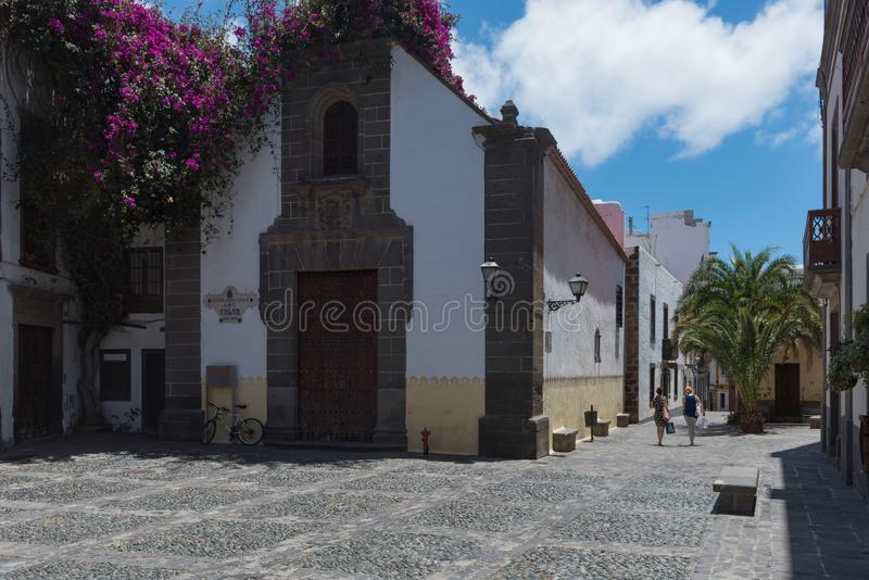 Hermitage of San Antonio Abad, in the old quarter of the district of Vegueta, Las Palmas de Gran Canaria. Canary islands, Spain royalty free stock image