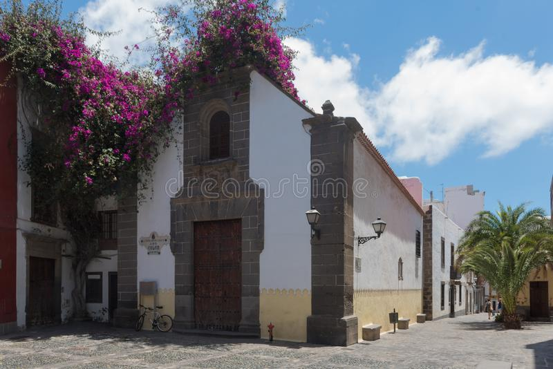 Hermitage of San Antonio Abad, in the old quarter of the district of Vegueta, Las Palmas de Gran Canaria. Canary islands, Spain stock photography