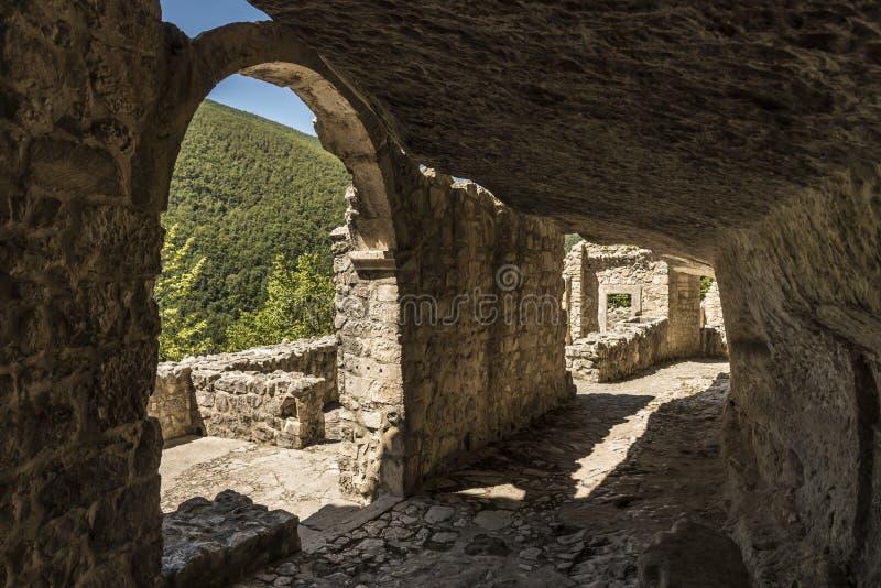 Hermitage of San Bartolomeo Italy. Hermitage of San Bartolomeo in Legio Italian: Eremo di San Bartolomeo in Legio located in Roccamorice, Province of Pescara stock image