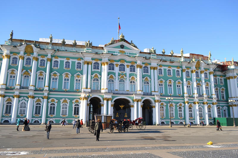 The Hermitage. In St.Petersburg, Russia stock photos
