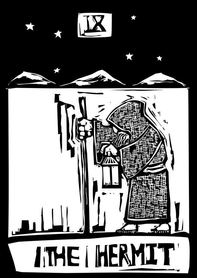 Hermite de carte de Tarot illustration de vecteur