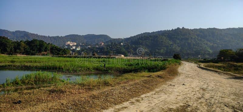 Hermosa captura de paisaje natural en Guwahati Assam India fotos de archivo