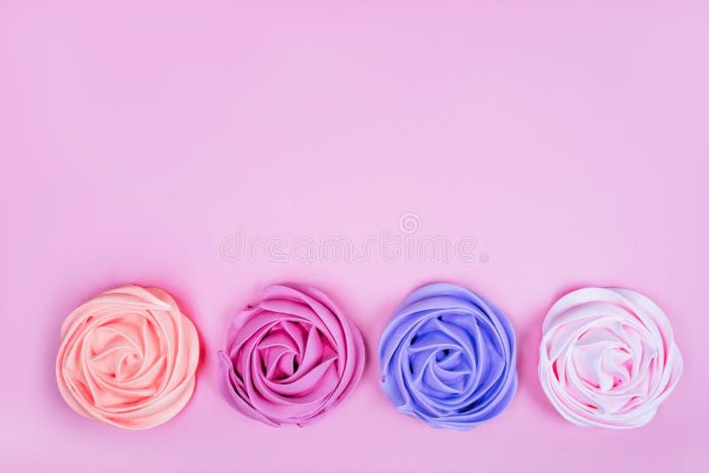 Hermosa merengue rosa foto de archivo libre de regalías