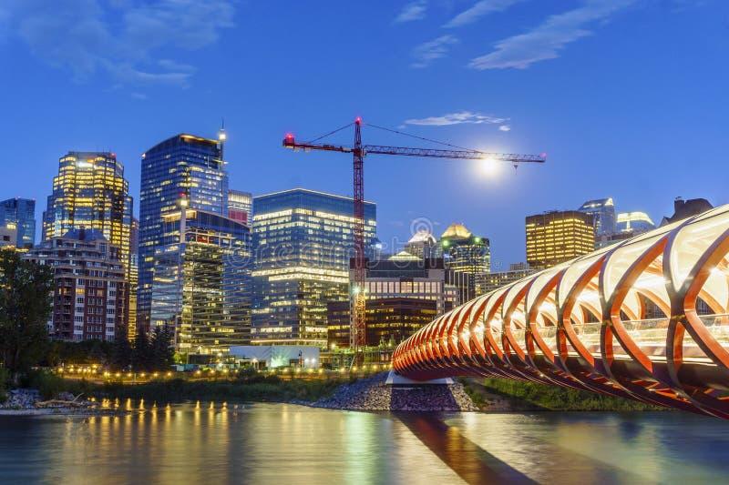 Hermosa vista de Calgary céntrica, Alberta, Canadá fotos de archivo