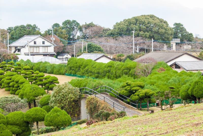 Hermosa vista de la casa japonesa tradicional en Bot japonés fotos de archivo