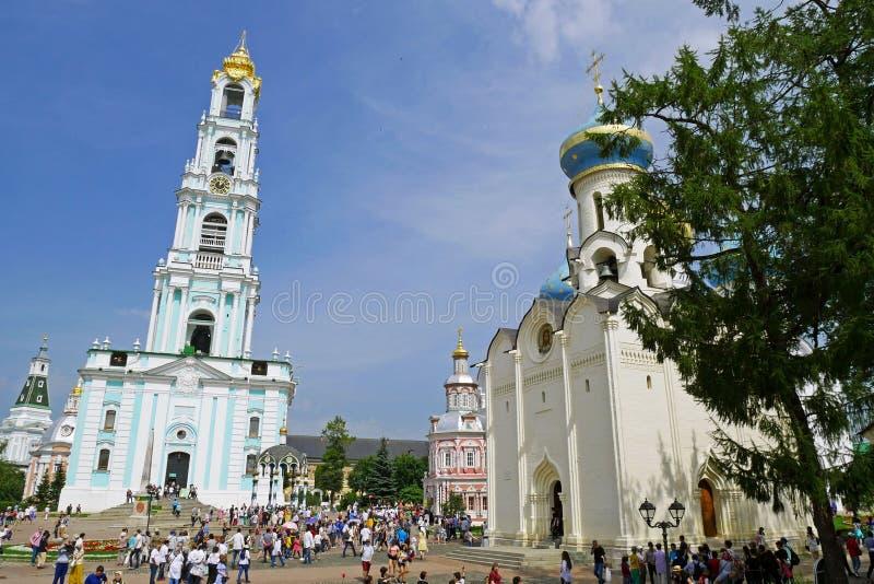 Hermosa vista de la catedral del ` s de la albahaca del St en el cuadrado rojo, Moscú, Rusia fotografía de archivo libre de regalías