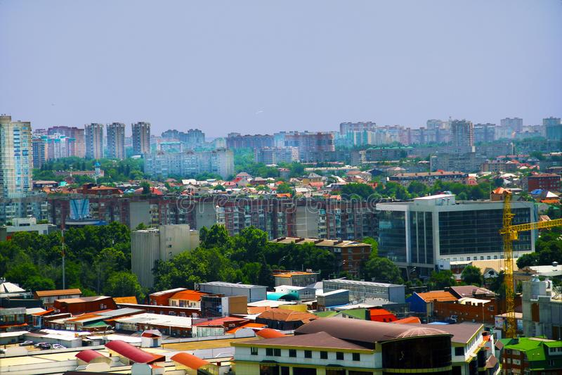 Hermosa vista de la ciudad de Krasnodar fotografía de archivo