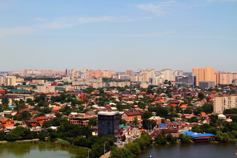 Hermosa vista de la ciudad de Krasnodar foto de archivo libre de regalías