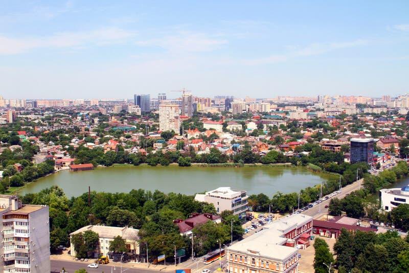 Hermosa vista de la ciudad de Krasnodar fotografía de archivo libre de regalías
