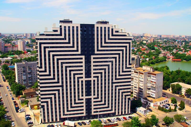 Hermosa vista de la ciudad de Krasnodar imagen de archivo