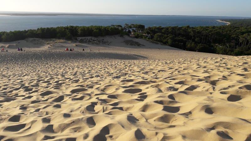 Hermosa vista de La Dune du Pilat Bassin d Arcachon imagen de archivo libre de regalías