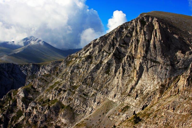Hermosa vista de los picos del monte Olimpo imágenes de archivo libres de regalías
