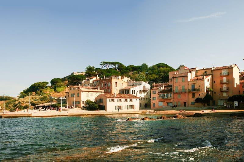 Hermosa vista de Saint Tropez foto de archivo libre de regalías