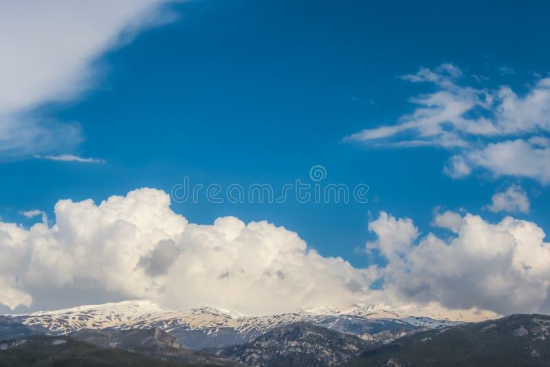 Hermosa vista de Sierra Nevada, Granada, España imagen de archivo