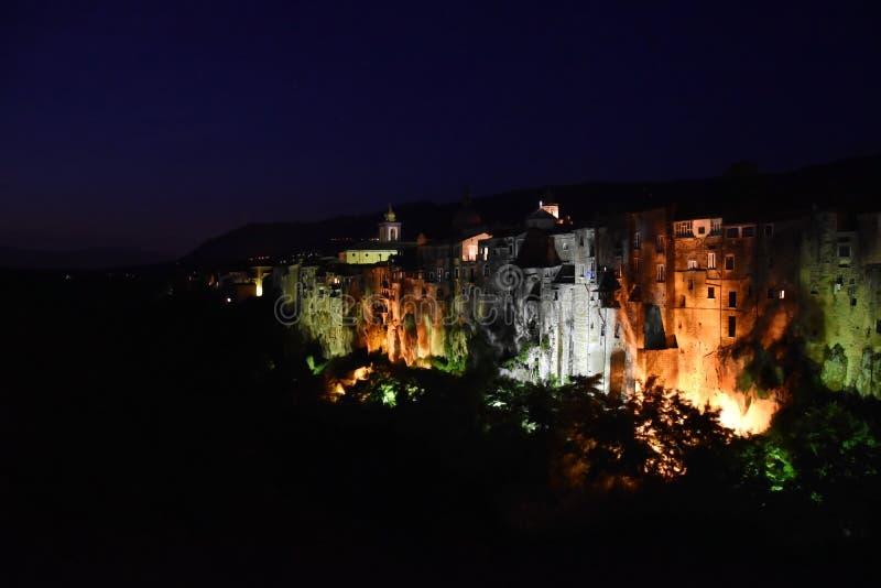 Hermosa vista del dei Goti de Sant 'Agata imagen de archivo