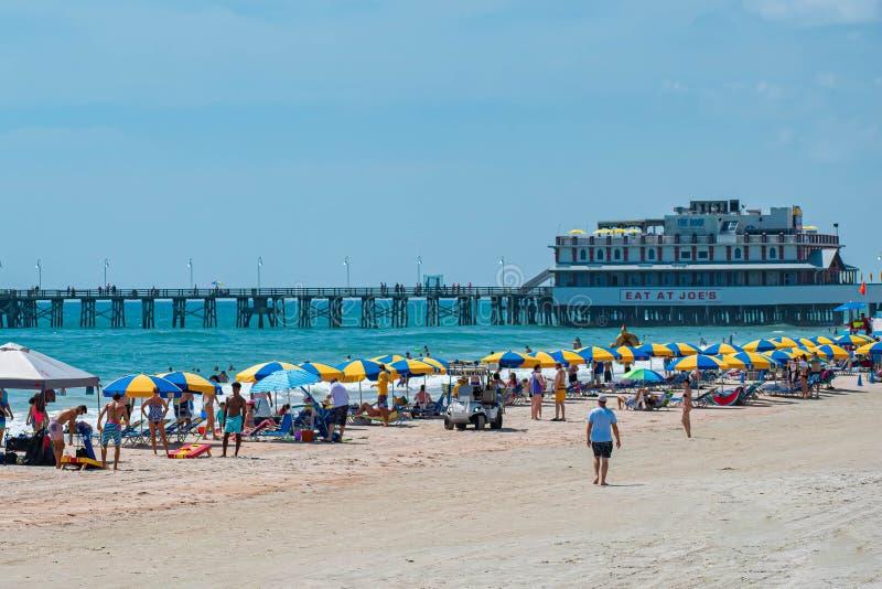 Hermosa vista del embarcadero 3 de Daytona Beach Main Street fotografía de archivo libre de regalías