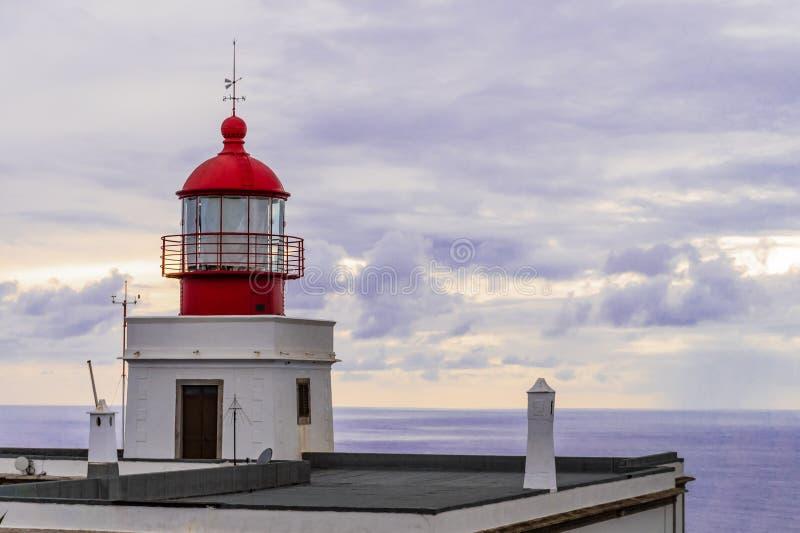 Hermosa vista del faro de Farol DA Ponta de Sao Jorge en Madeira fotos de archivo libres de regalías