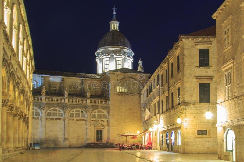 Hermosa vista del palacio del dvor del ev del ¾ de KneÅ del rector en Dubrovnik, Croacia imagen de archivo libre de regalías