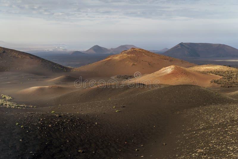Hermosa vista del parque nacional Montaña de Fuego, Lanzarote, islas Canarias, España de Timanfaya imagenes de archivo