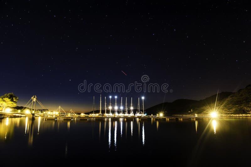 Hermosa vista en Cornati Croacia fotografía de archivo libre de regalías