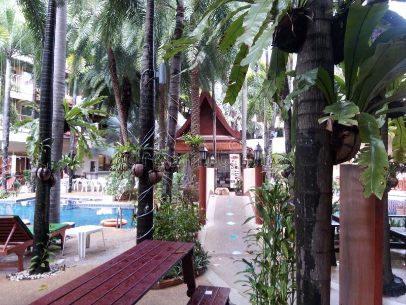 Hermosa vista en el centro turístico de Baumanburi fotos de archivo libres de regalías