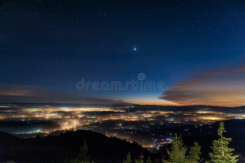 Hermosa vista en Eslovenia foto de archivo