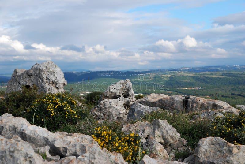 Hermosa vista en Galilea superior, Israel foto de archivo