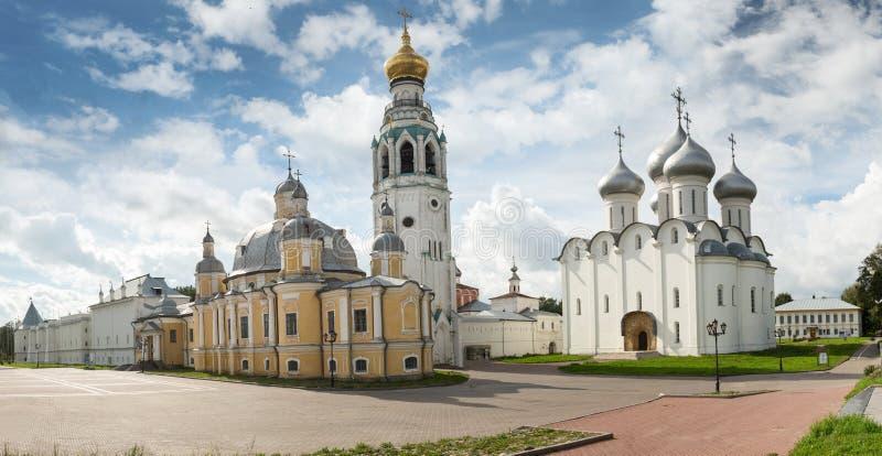 Hermosa vista en la iglesia, Rostov Veliky, Rusia imagenes de archivo