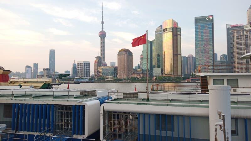 Hermosa vista en Shangai fotografía de archivo