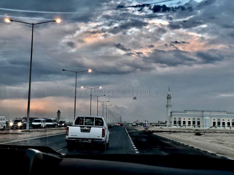 Hermosa vista en un viaje del coche foto de archivo libre de regalías