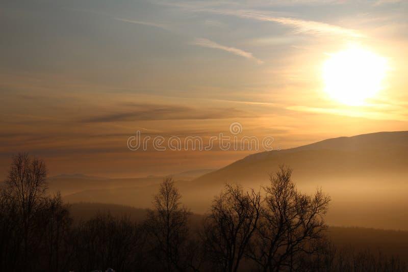 Hermosa vista encima vally fotografía de archivo libre de regalías