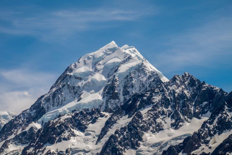 Hermosa vista y glaciar en el cocinero National Park del soporte imágenes de archivo libres de regalías