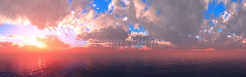Hermosas vistas al mar al atardecer fotografía de archivo libre de regalías