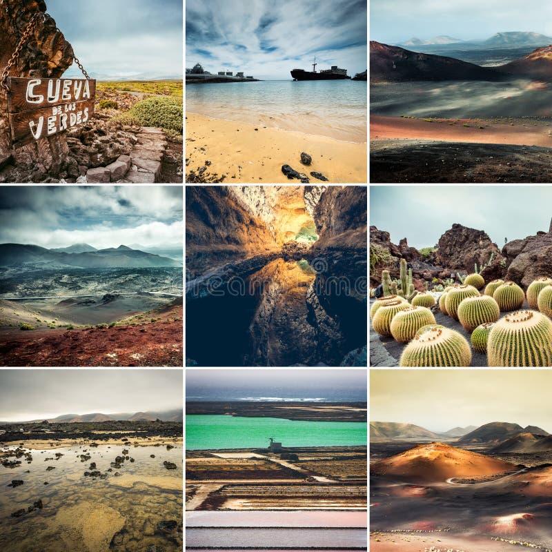 Hermosas vistas de las islas Canarias España de Lanzarote foto de archivo