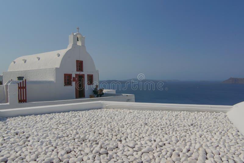 Hermosas vistas de Santorini Grecia foto de archivo